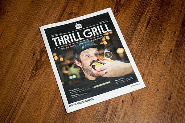 Thrill Grill Menu